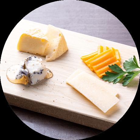 4種のチーズの盛り合わせ